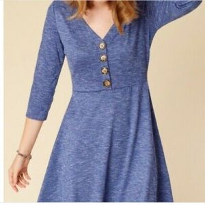 Altar'd State 3/4 Sleeve Button Front Dress NWT M
